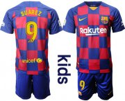 Wholesale Cheap Barcelona #9 Suarez Home Kid Soccer Club Jersey
