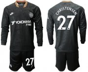 Wholesale Cheap Chelsea #27 Christensen Third Long Sleeves Soccer Club Jersey