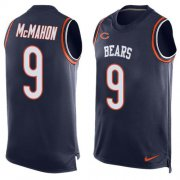 Wholesale Cheap Nike Bears #9 Jim McMahon Navy Blue Team Color Men's Stitched NFL Limited Tank Top Jersey