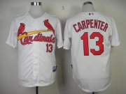 Wholesale Cheap Cardinals #13 Matt Carpenter White Cool Base Stitched MLB Jersey