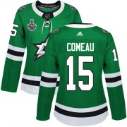 Cheap Adidas Stars #15 Blake Comeau Green Home Authentic Women's 2020 Stanley Cup Final Stitched NHL Jersey