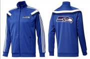 Wholesale Cheap NFL Seattle Seahawks Team Logo Jacket Blue_3