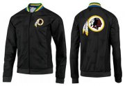 Wholesale Cheap NFL Washington Redskins Team Logo Jacket Black_3