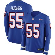 Wholesale Cheap Nike Bills #55 Jerry Hughes Royal Blue Team Color Men's Stitched NFL Limited Therma Long Sleeve Jersey