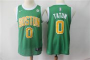 Wholesale Cheap Nike Celtics 0 Jayson Tatum Green Stitched 2019 Swingman Earned Edition Jersey