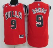 Wholesale Cheap Men's Chicago Bulls #9 Rajon Rondo Red Revolution 30 Swingman Adidas Basketball Jersey