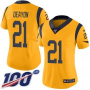 Wholesale Cheap Nike Rams #21 Donte Deayon Gold Women's Stitched NFL Limited Rush 100th Season Jersey