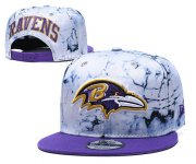 Wholesale Cheap Ravens Team Logo Smoke Purple Adjustable Hat TX