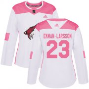 Wholesale Cheap Adidas Coyotes #23 Oliver Ekman-Larsson White/Pink Authentic Fashion Women's Stitched NHL Jersey