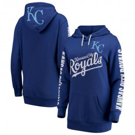 Wholesale Cheap Kansas City Royals G-III 4Her by Carl Banks Women\'s Extra Innings Pullover Hoodie Royal