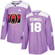 Wholesale Cheap Adidas Senators #18 Ryan Dzingel Purple Authentic Fights Cancer Stitched Youth NHL Jersey