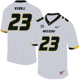 Wholesale Cheap Missouri Tigers 23 Roger Wehrli White Nike College Football Jersey