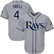 Wholesale Cheap Rays #4 Blake Snell Grey Cool Base Stitched Youth MLB Jersey