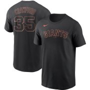 Wholesale Cheap San Francisco Giants #35 Brandon Crawford Nike Name & Number T-Shirt Black