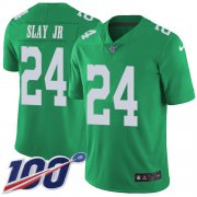 Wholesale Cheap Nike Eagles #24 Darius Slay Jr Green Men's Stitched NFL Limited Rush 100th Season Jersey