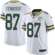 Wholesale Cheap Nike Packers #87 Jace Sternberger White Men's 100th Season Stitched NFL Vapor Untouchable Limited Jersey