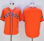 Wholesale Cheap Astros Blank Orange New Cool Base 2019 World Series Bound Stitched MLB Jersey