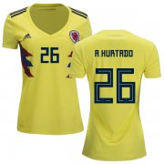 Wholesale Cheap Women's Colombia #26 A.Hurtado Home Soccer Country Jersey
