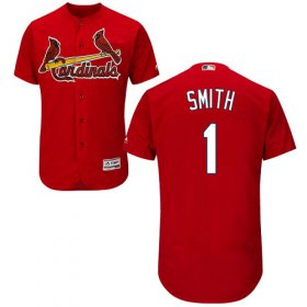 Wholesale Cheap Cardinals #1 Ozzie Smith Red Flexbase Authentic Collection Stitched MLB Jersey