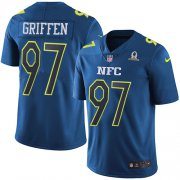 Wholesale Cheap Nike Vikings #97 Everson Griffen Navy Men's Stitched NFL Limited NFC 2017 Pro Bowl Jersey