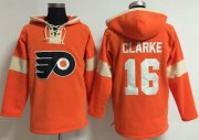 Wholesale Cheap Philadelphia Flyers #16 Bobby Clarke Orange Pullover NHL Hoodie