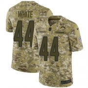 Wholesale Cheap Nike Chargers #44 Kyzir White Camo Men's Stitched NFL Limited 2018 Salute To Service Jersey