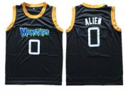 Wholesale Cheap Monstars 0 Alien Black Space Jam Stitched Movie Jersey