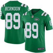 Wholesale Cheap Nike Jets #89 Chris Herndon Green Men's Stitched NFL Limited Rush Jersey