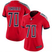 Wholesale Cheap Nike Titans #70 Ty Sambrailo Red Women's Stitched NFL Limited Inverted Legend Jersey