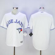 Wholesale Cheap Blue Jays Blank White New Cool Base Stitched MLB Jersey