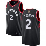 Wholesale Cheap Raptors #2 Kawhi Leonard Black 2019 Finals Bound Basketball Swingman Statement Edition Jersey