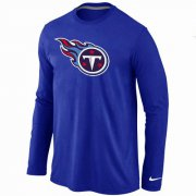 Wholesale Cheap Nike Tennessee Titans Logo Long Sleeve T-Shirt Blue