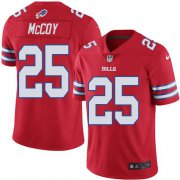 Wholesale Cheap Nike Bills #25 LeSean McCoy Red Men's Stitched NFL Elite Rush Jersey