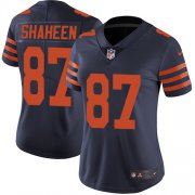 Wholesale Cheap Nike Bears #87 Adam Shaheen Navy Blue Alternate Women's Stitched NFL Vapor Untouchable Limited Jersey
