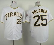 Wholesale Cheap Pirates #25 Gregory Polanco White Cool Base Stitched MLB Jersey
