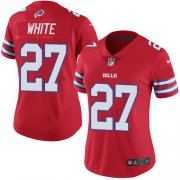 Wholesale Cheap Nike Bills #27 Tre'Davious White Red Women's Stitched NFL Limited Rush Jersey