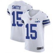 Wholesale Cheap Nike Cowboys #15 Devin Smith White Men's Stitched With Established In 1960 Patch NFL New Elite Jersey