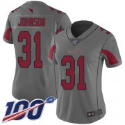 Wholesale Cheap Nike Cardinals #31 David Johnson Silver Women's Stitched NFL Limited Inverted Legend 100th Season Jersey