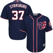 Wholesale Cheap Nationals #37 Stephen Strasburg Blue Cool Base EStitched Youth MLB Jersey