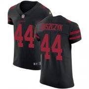 Wholesale Cheap Nike 49ers #44 Kyle Juszczyk Black Alternate Men's Stitched NFL Vapor Untouchable Elite Jersey