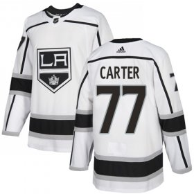 Wholesale Cheap Adidas Kings #77 Jeff Carter White Road Authentic Stitched Youth NHL Jersey