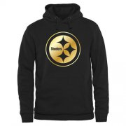 Wholesale Cheap Men's Pittsburgh Steelers Pro Line Black Gold Collection Pullover Hoodie