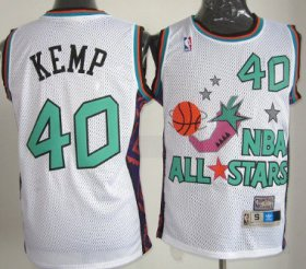 Wholesale Cheap NBA 1996 All-Star #40 Shawn Kemp White Swingman Throwback Jersey
