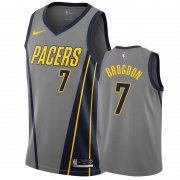 Wholesale Cheap Nike Pacers #7 Malcolm Brogdon Gray City Edition Men's NBA Jersey