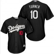 Wholesale Cheap Dodgers #10 Justin Turner Black Turn Back The Clock Stitched MLB Jersey