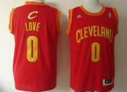 Wholesale Cheap Cleveland Cavaliers #0 Kevin Love Revolution 30 Swingman Red Jersey