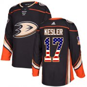 Wholesale Cheap Adidas Ducks #17 Ryan Kesler Black Home Authentic USA Flag Youth Stitched NHL Jersey