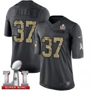 Wholesale Cheap Nike Falcons #37 Ricardo Allen Black Super Bowl LI 51 Youth Stitched NFL Limited 2016 Salute to Service Jersey