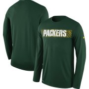 Wholesale Cheap Green Bay Packers Nike Sideline Seismic Legend Long Sleeve T-Shirt Green