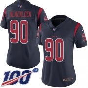 Wholesale Cheap Nike Texans #90 Ross Blacklock Navy Blue Women's Stitched NFL Limited Rush 100th Season Jersey